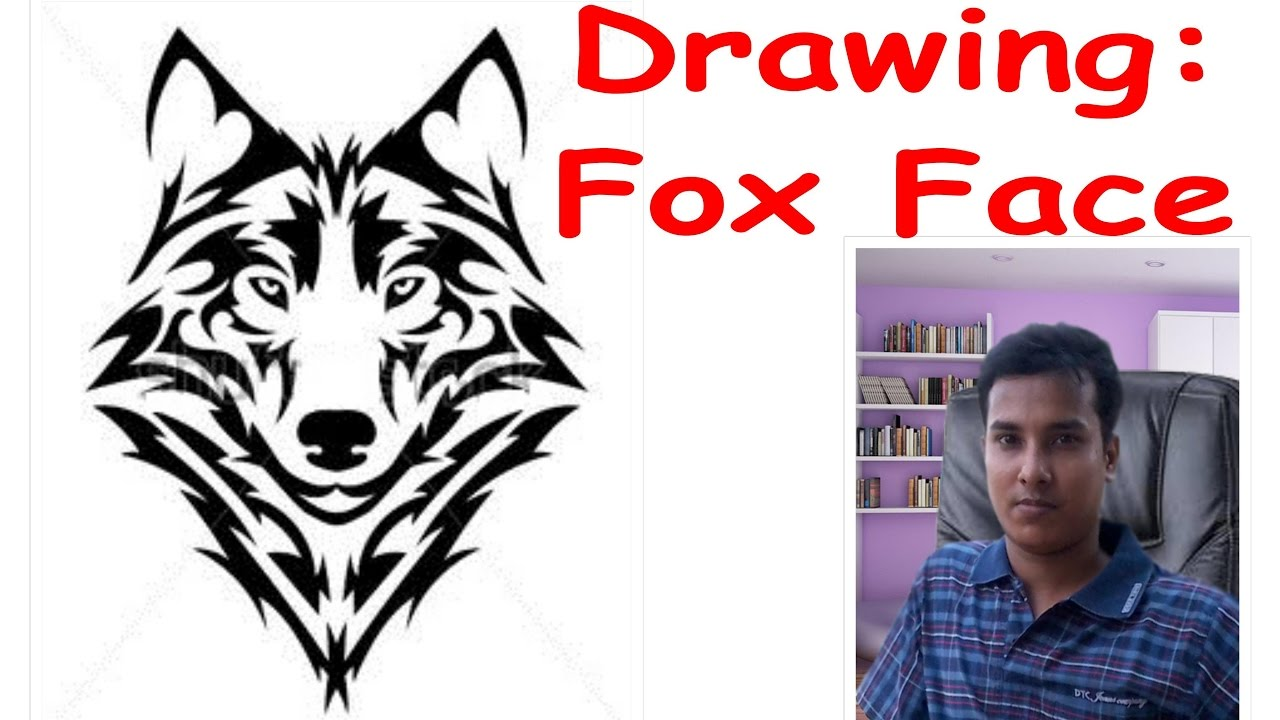 1280x720 How To Draw A Fox Face