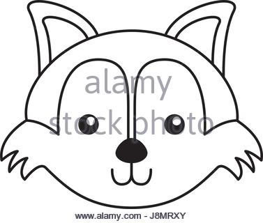 377x320 Cute Fox Face Cartoon Stock Vector Art Amp Illustration, Vector