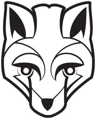 333x415 Fox Face Vector