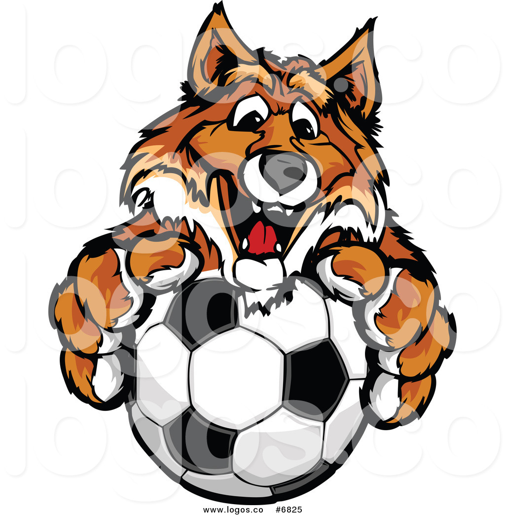 1024x1044 Royalty Free Clip Art Vector Logo Of A Happy Fox With A Soccer