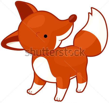 450x425 Baby Fox Clipart