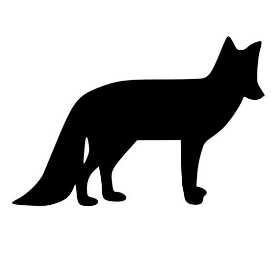 570x570 Fox Silhouette Die Cut Decal Car Window Wall Bumper Phone