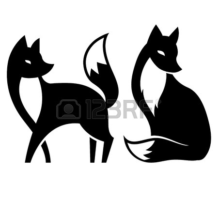 450x450 4,432 Fox Silhouette Stock Illustrations, Cliparts And Royalty