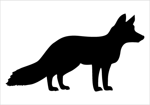 501x352 Fox Silhouette Vector Download Fox Vectors Silhouette Graphics