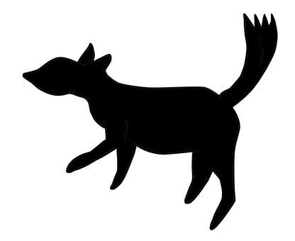 416x340 Free vector silhouettes animal, black, Face, fox, Next, Fox