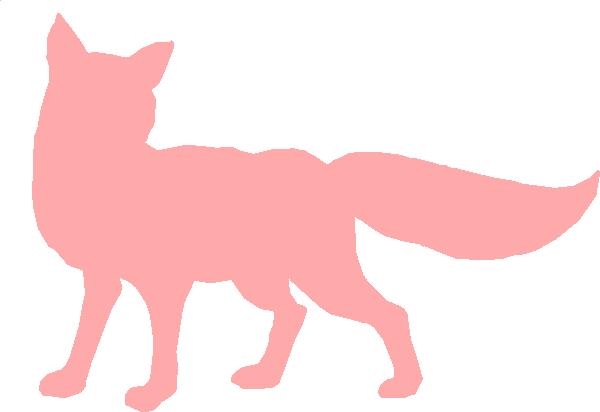 600x412 Pink Fox Silhouette Clip Art