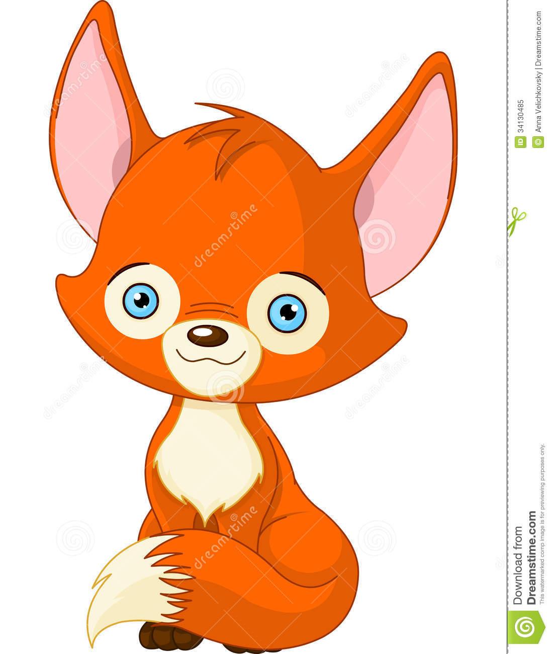 1098x1300 Cute Fox Clipart