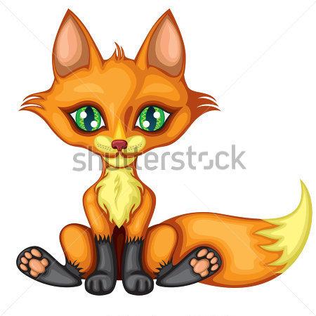 450x450 Little Red Fox Clipart