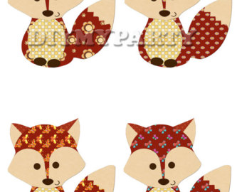 340x270 Printable Party Decor Foxes Clip Art Foxes Clipart Holiday