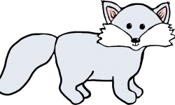 250x150 White Fox Clipart