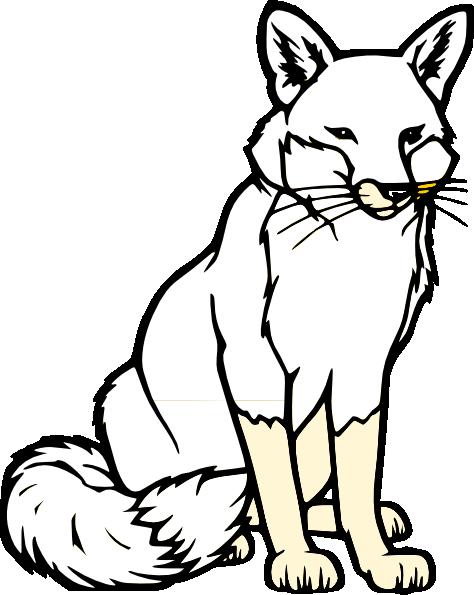 474x595 Black And White Fox Clip Art