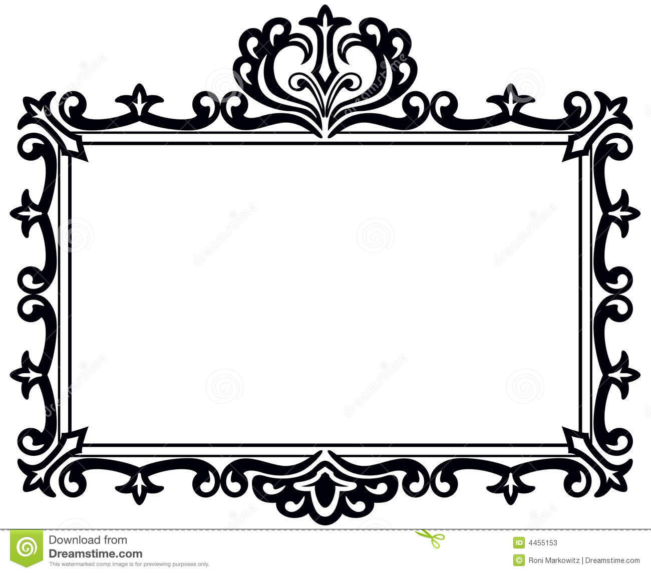 1300x1146 Black And White Frame Clipart