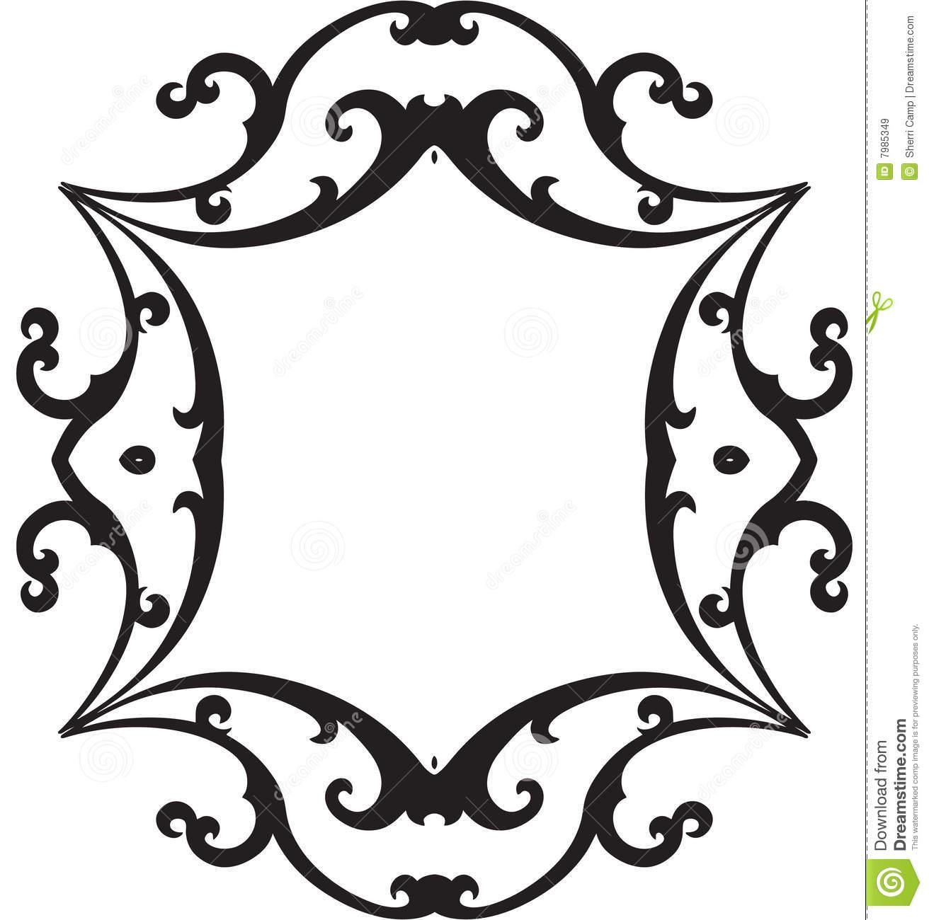 1312x1300 Black And White Frame Clipart