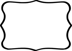 298x210 Black Frame White Center Clip Art