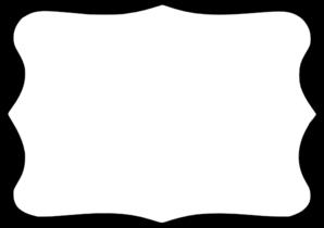 298x210 Black Frame White Center Clip Art