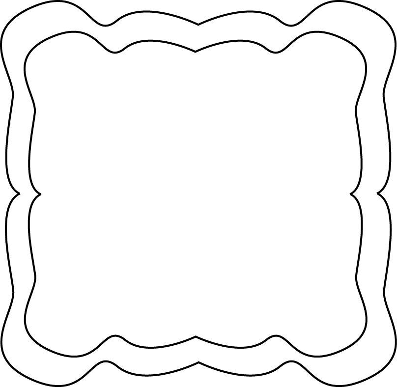 808x788 Black Amp White Clipart Frame