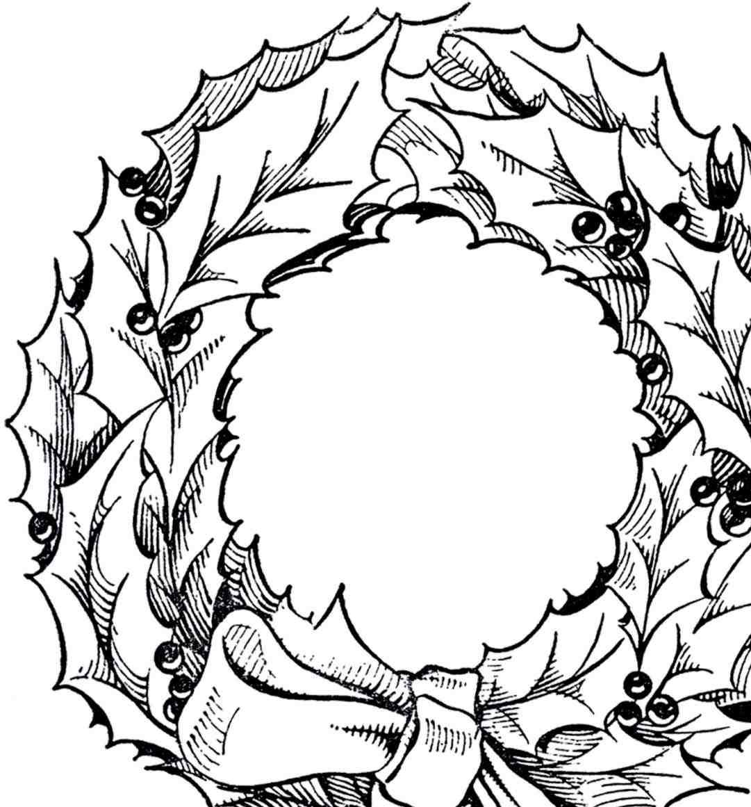 1081x1161 Clipart Clip Art Poinsettia S Laurel Frame The Graphics Fairy