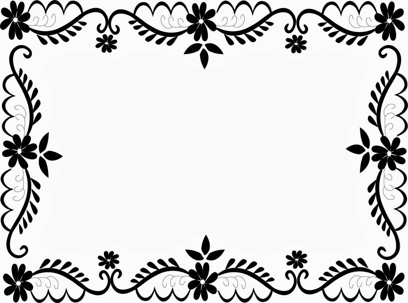 1600x1188 Flower Frame Clip Art Curve Desktop Background (1600 X 1188