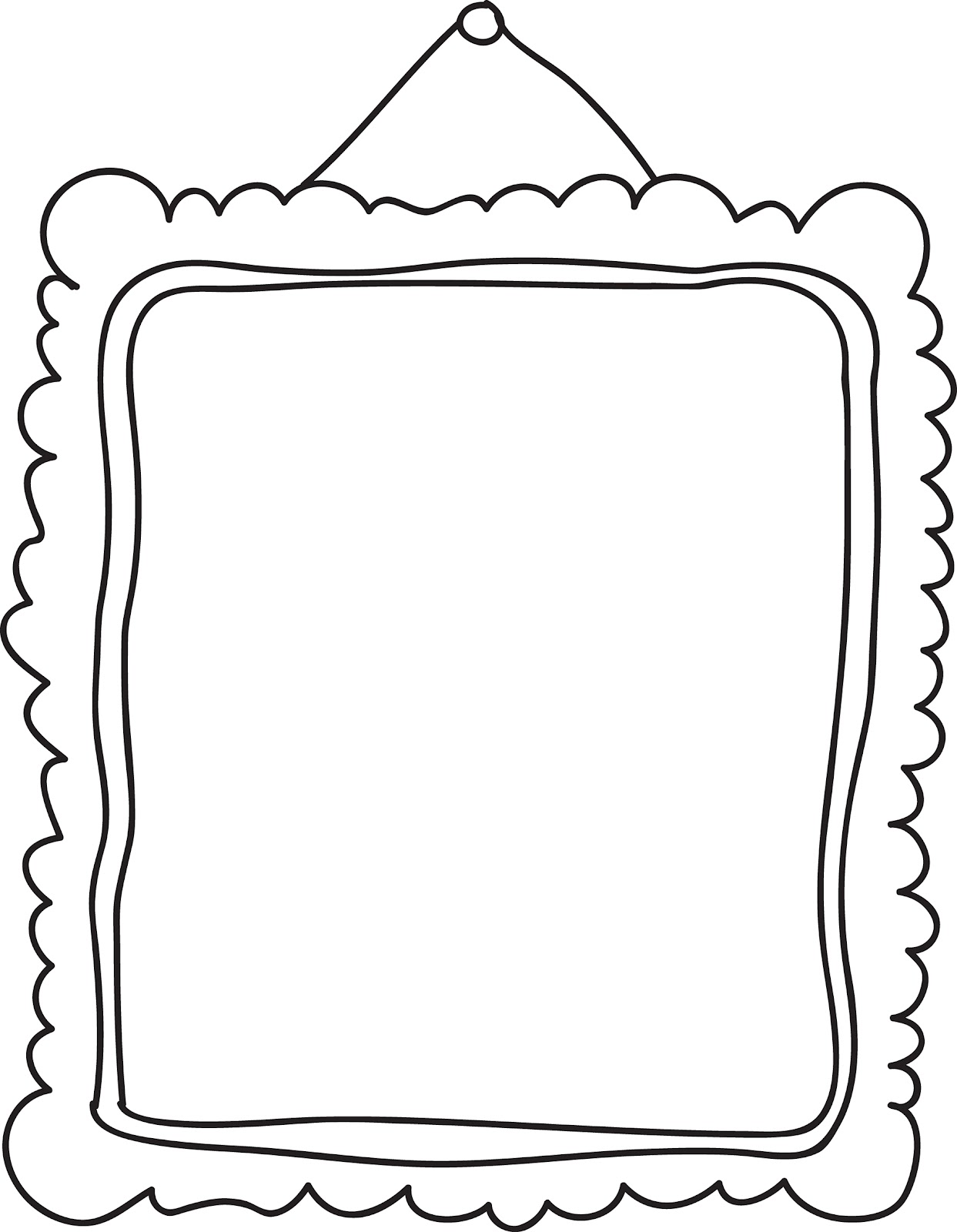 1243x1600 Frame Clip Art Black And White Free Clipart Images