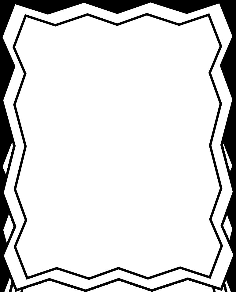 772x955 Full Page Black And White Zig Zag Frame