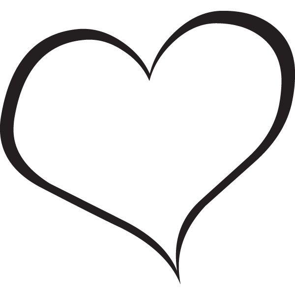 600x600 Heart Clip Art Black And White
