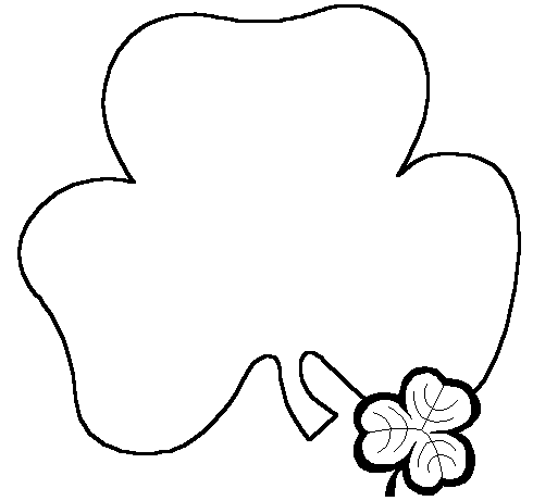 490x461 Shamrock Clipart Black And White