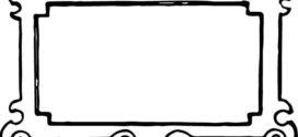 272x125 Frame Clip Art Black And White Clipart Panda