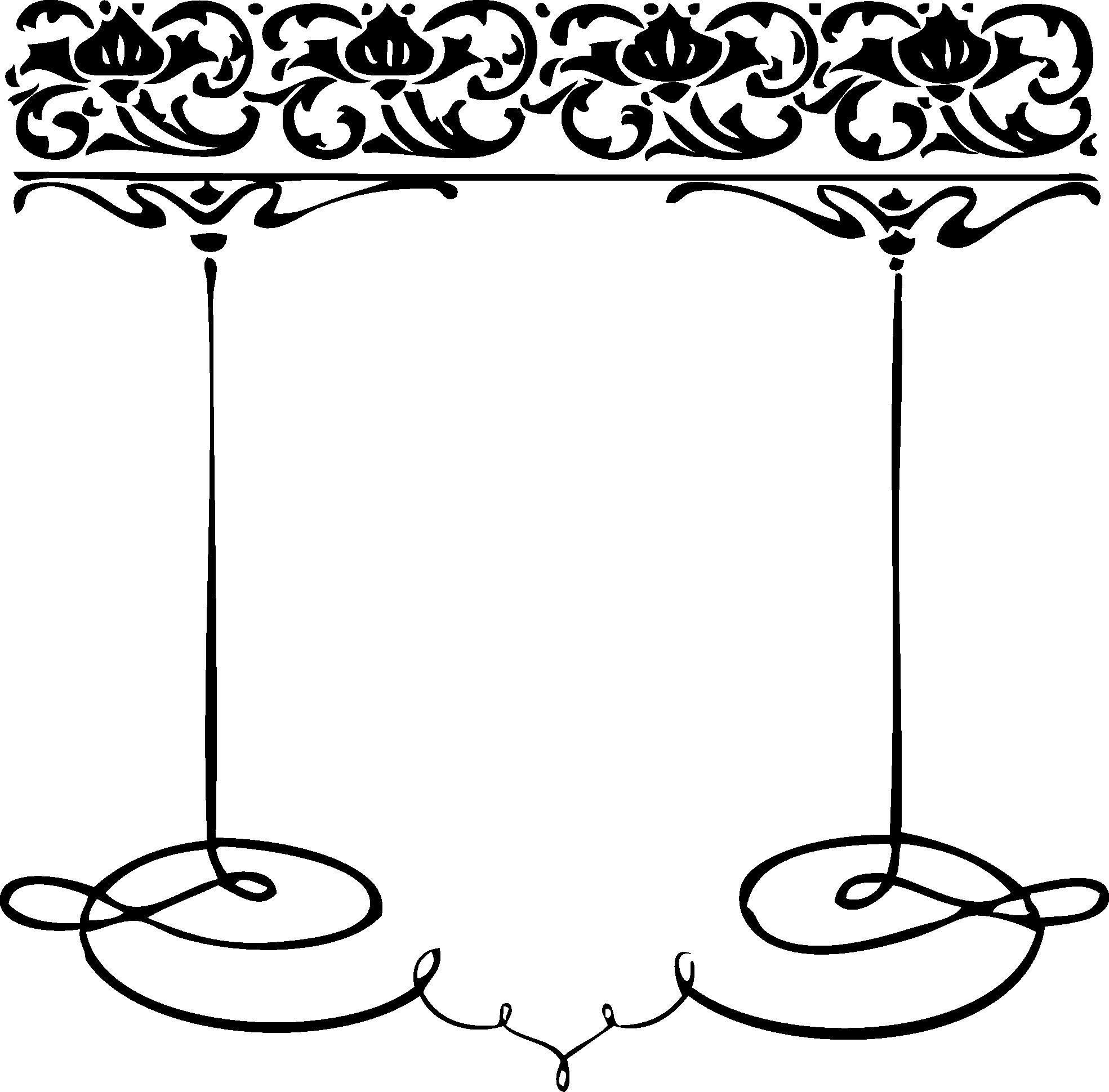 1969x1940 Black And White Decorative Clip Art