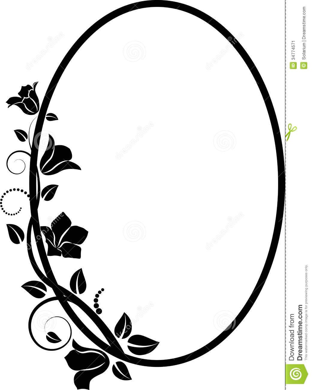 1041x1300 Frame Clipart Oval