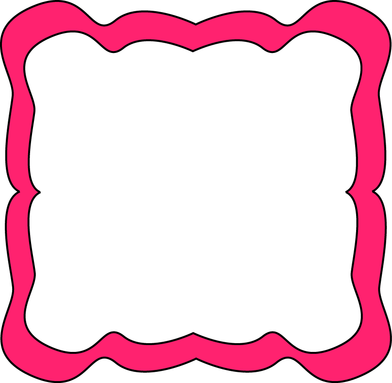 808x788 Pink Curvy Frame