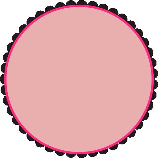 512x512 Scalloped Round Frame Clipart I2clipart