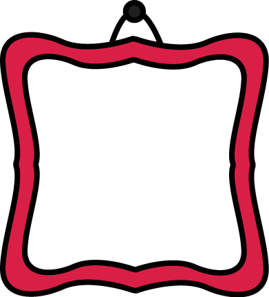 391x431 Picture Frame Clipart