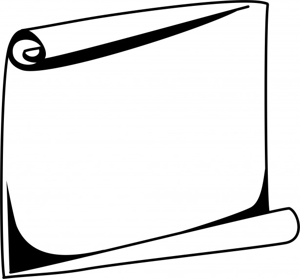 615x572 Scroll Frame Clipart