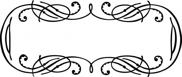 600x253 Vintage Calligraphy Border Frame Clip Art Vector Image Oh So