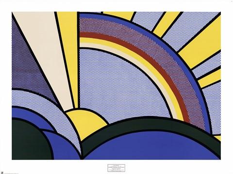 480x360 Modern Painting Of Sun Rays Fine Art Print By Roy Lichtenstein