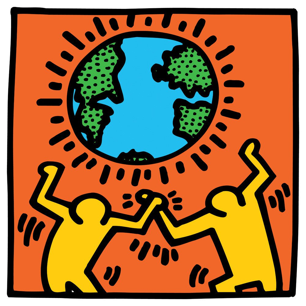 1000x1000 Untitled, (World) Art Print By Keith Haring King Amp Mcgaw