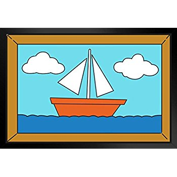 350x350 Sailboat Painting Over The Couch Cartoon Tv Show