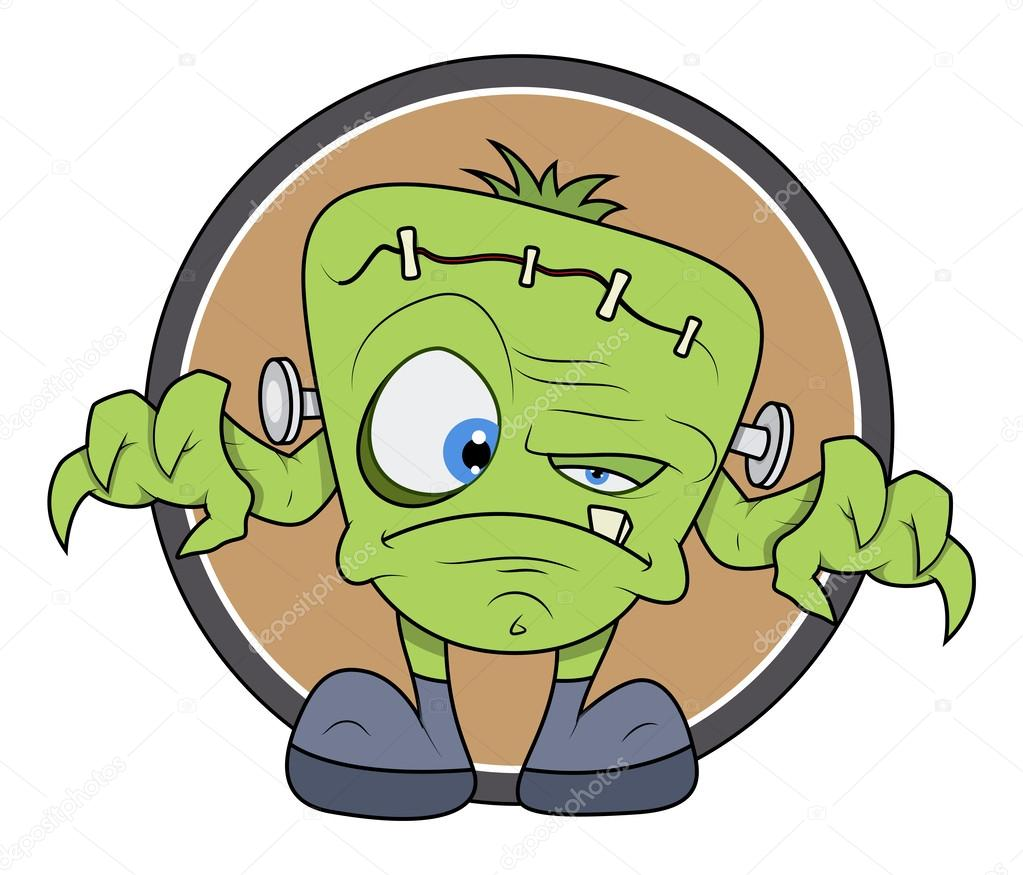 1023x875 Frankenstein Monster Cartoon