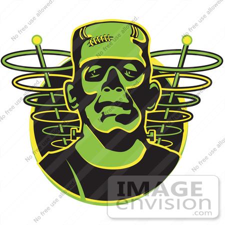 450x450 Royalty Free Cartoon Clip Art Of A Green Frankenstein Monster