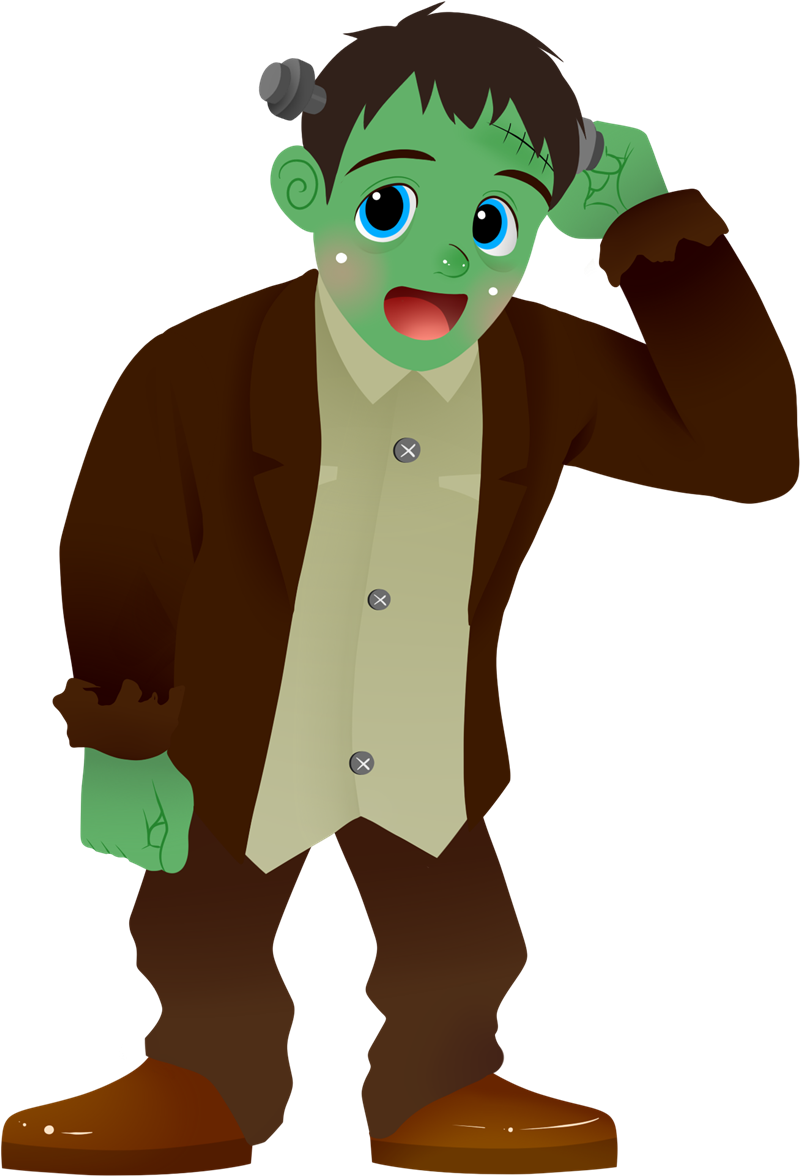 800x1176 Cute Frankenstein Clipart Clipartix