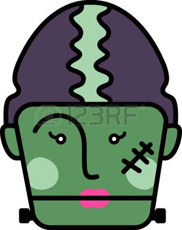 356x450 Frankenstein Clipart Head