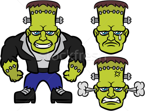 600x459 Frankenstein Clipart Sad