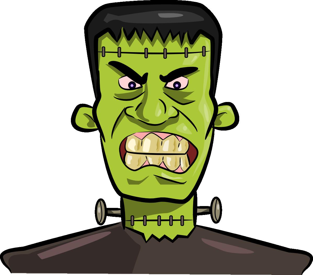 1196x1049 Head Clipart Frankenstein