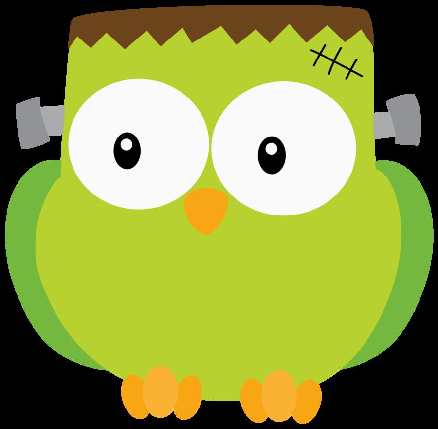 900x880 Halloween Frankenstein Owl Clip Art Clip Art