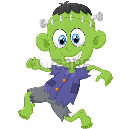 450x450 Little Boy Dressed Up As Frankenstein Royalty Free Cliparts