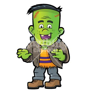 355x370 Cute Halloween Frankenstein Clipart