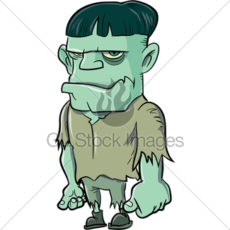 325x325 Cartoon Frankenstein Monster With Mp3 Player Gl Stock Images