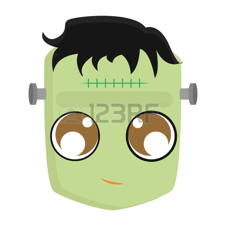 450x450 Frankenstein Line Icon, Halloween And Scary Royalty Free Cliparts