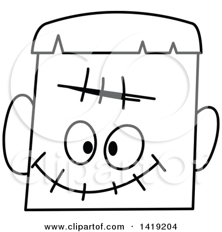 450x470 Face Clipart Black And White