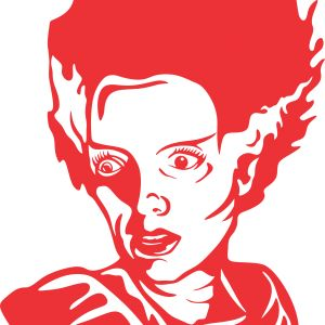 300x300 Bride Of Frankenstein Clipart Face